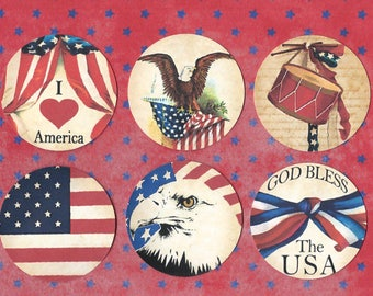 Stickers, Americana, July 4th, Celebration, America