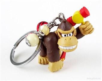 Donkey Kong Keychain, Gamer Gifts, Retro Gaming