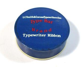 Vintage Typewriter Ribbon Tin - Type Bar Smith Corona (empty)