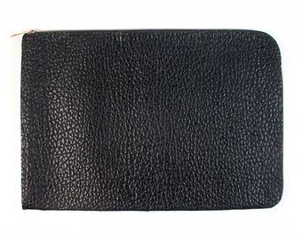Vintage Black Faux Leather Portfolio Case