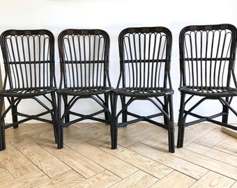 Bamboo Chair Set Of 4