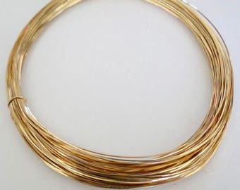 14k Gold Filled Square Half Hard Wire - 16, 18, 20, 22, 24 gauge, Made in USA
