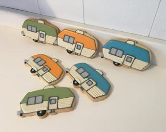 Vintage Rv Trailer Travel Road Trip Retirement cookies