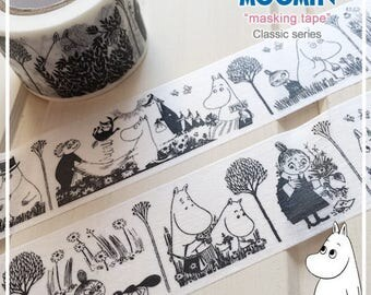 Moomins in Black & White Washi Tape (Mm-116)