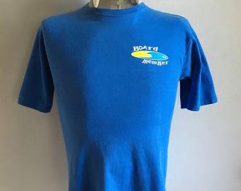 Vintage Men's 90's Corky Carrolls, T Shirt, Blue, Short Sleeve (S)