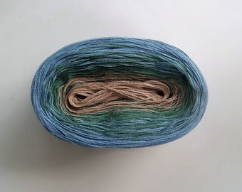 AGAVE -- Color Changing Cotton yarn  --  Fingering Weight -- 100 gr/480 yards (180 gr/865 yards)