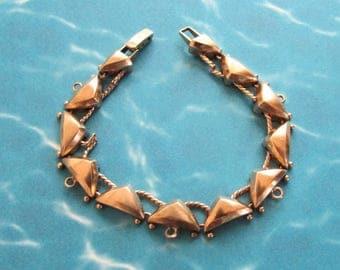 Vintage Art Deco 14K Gold Charm Bracelet (no charms) on Etsy by APURPLEPALM