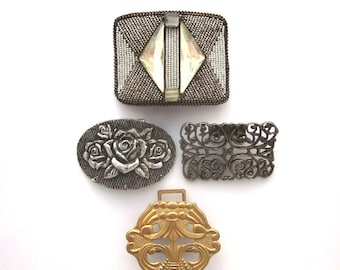 Vintage Jewelry Lot Shoe Clips Buckles Jewelry Supply