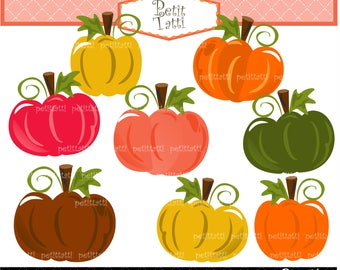 Pumpkins Clip Art - Autumn Pumpkin Fall Pumpkin Pumpkins Clip Art Clipart pumpkin patch, Thanksgiving scrapbooking, INSTANT Download