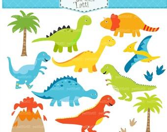 ON SALE Dinosaur Clip Art - Dinosaur clipart, boy dinosaur, cute Dinosaur Clip Art, Blue dinosaurs clip art, INSTANT Download