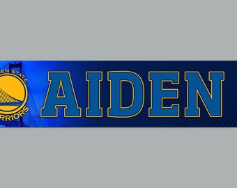 Personalized Golden State Warriors Basketball sign