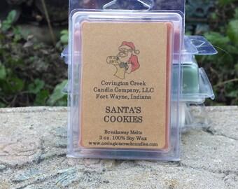 Santa's Cookies Pure Soy Breakaway Melt.