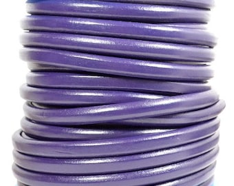 Summer Sale - 25% off Dark Purple Regaliz Licorice Leather - R7 - Choose Your Length