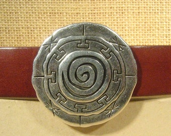 25% Off Mandala Sliders for 20mm Flat Leather - Antique Silver