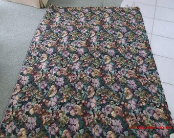 Vintage 2 YARDS Tapestry Upholstery Fabric Yardage 72 x 55 Floral Tapestry
