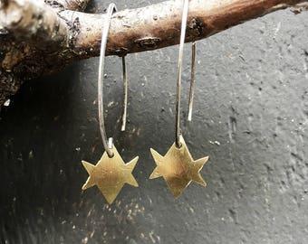 Unicursal Hexagram Earrings