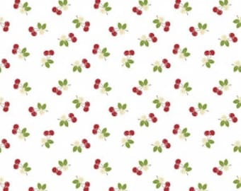 LAMINATED COTTON Riley Blake Designs Sew 2 Cherry Fabric by the yard
