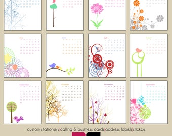 2018 Desk Calendar - Mod and Retro Designs with Clear Case