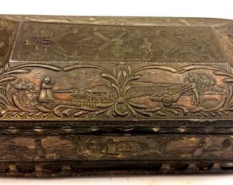 Antique Turn of The Century Metal Box