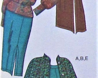 Cape and Gauchos Sewing Pattern UNCUT Simplicity 3991 Sizes 18-24 Plus Size