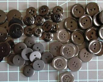 Black Buttons 14mm - 19mm Flat Buttons Craft Buttons Sewing Buttons