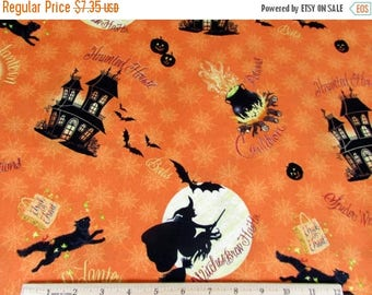 Halloween Witches Brew Fabric--Hard Find --Vibrant Fabrics--Vintage Look--LAST one