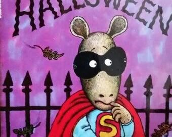 FUN Arthur Halloween Book--HARD Find--Lots of Fun Illustrations -- 40-70% off Patterns n Books SALE