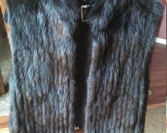 Nice blk Mink vest Jacket -- sz lg= SALE
