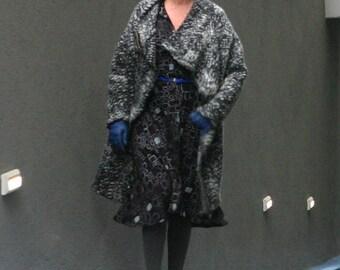 NEW! WOOL wrap cardigan jacket - cardigan sweater - wrap jacket - wrap top - cozy sweater - chunky sweater - gray sweater - WrapSweater
