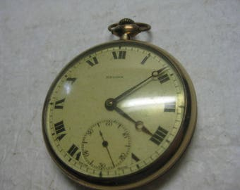 Antique Omega Regina Pocket Watch 16S 15J As Is For Parts or Repair