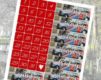 London Vacation Travel Photo Date Covers Planner Stickers Vertical Student - Stick to Your Story