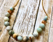 SALE 20% OFF Amazonite Bead Chain Necklace