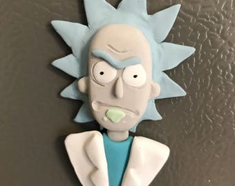 Rick Sanchez Sculpture, Rick Magnet, Rick and Morty, Rick and Morty magnets