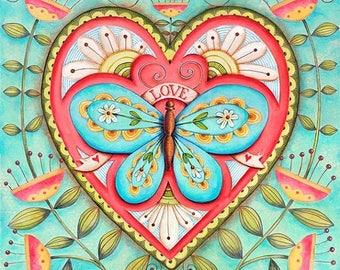 25% OFF PRINTS Buttterflly Love - 8x8 Art Print Scripture Christian Inspirational Wall Art