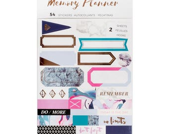 Marble Crush American Crafts Memory Planner Label Stickers 54/pkg (341216) Planner Sticker