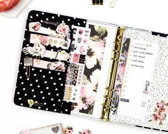 Prima Marketing My Prima Planner Kit Midnight Bloom (131 pieces) Paper Clip, Sticker, Journal Cards, Ephemera Die Cut (596392)
