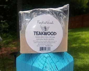 Teakwood - Handcrafted Rustic Olive Oil Soap
