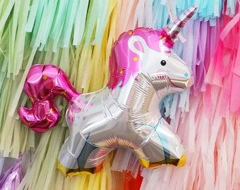 """Unicorn Balloon, 36""""Large Unicorn Balloon, Unicorn Birthday Party Balloon"""