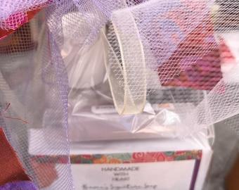 Handmade SPA Lavender Gift Set Soap Lotion Spray Lip Balm All Natural Vegan Shea Butter Bar Sensitive Skin Purple Heaven's Signature