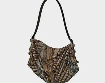 Palm Fronds Origami Tote