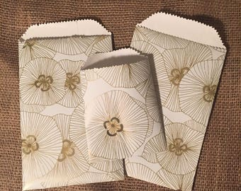 Gold Floral Goodie Bags