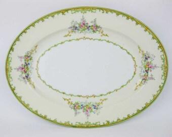 Antique Noritake #N310 Oval Serving Platter Circa 1918  Made In Japan