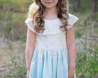 Ardenne Dress PDF Sewing Pattern, including sizes 12 months-12 years, Girls Dress Pattern