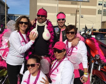 THE ORIGINAL Boob Scarf - Wear to your next Breast Cancer Awareness Walk - Race - Event