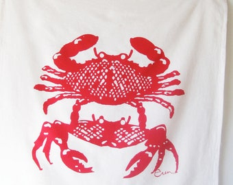 Red Crabbies Tea Towel - READY TO SHIP