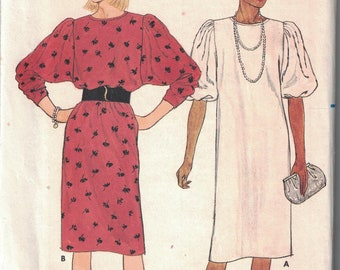 6676 Butterick Misses Sewing Pattern UNCUT Loose Fitting Straight Pullover Dress 14 16 18