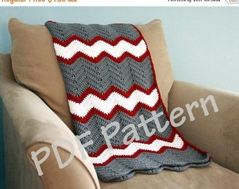 Pattern on the Month Crochet throw pattern, chevron blanket pattern, crochet afghan patten, easy baby blanket pattern, crochet chevron patte