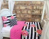 "American Girl 18"" Doll Bedding Set, Pink Floral"