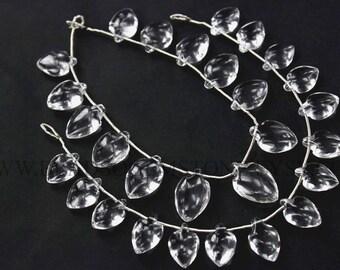 Gemstone Beads, Crystal Quartz Smooth Arrow (Quality AA) / 10x14.5 to 12x17 mm / 18 cm / CR-098