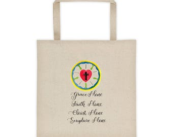 Luther's Rose with Solas Tote bag